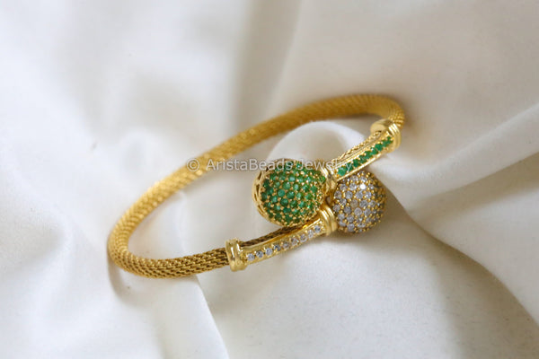 Green CZ Bangle Kada Barcelet