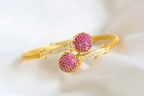 Ruby CZ Bangle Kada Barcelet
