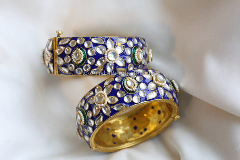 Kundan Enamel Bangle