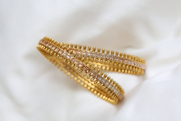 Gold Polki Bangle Set