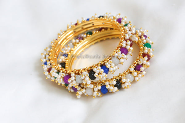 Pearl Beaded Bangle