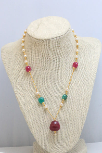 Delicate Mala Indian Necklace - AristaBeads Jewelry - 3