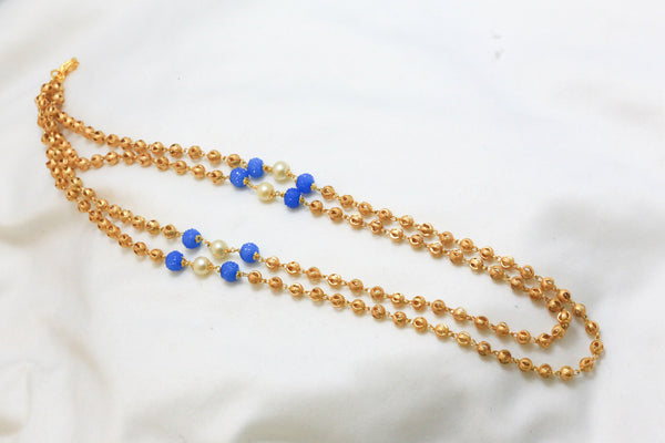 Golden Balls Mala Necklace - AristaBeads Jewelry - 2