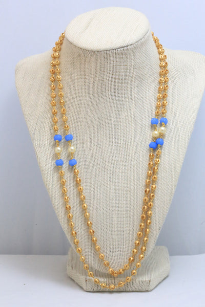 Golden Balls Mala Necklace - AristaBeads Jewelry - 3