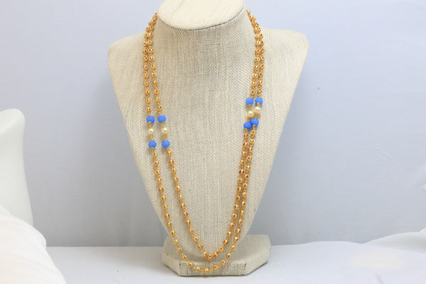 Golden Balls Mala Necklace - AristaBeads Jewelry - 4