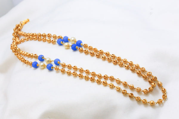 Golden Balls Mala Necklace - AristaBeads Jewelry - 1