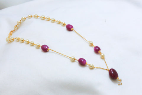 Delicate Gold Chain Mala Necklace - AristaBeads Jewelry - 1