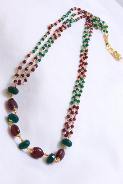 Delicate Semiprecious Mala Necklace - AristaBeads Jewelry - 3