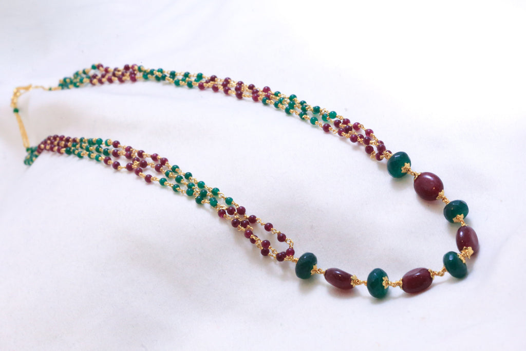Delicate Semiprecious Mala Necklace - AristaBeads Jewelry - 1