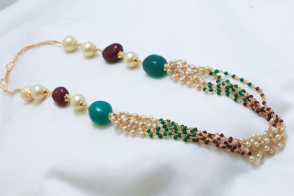 Layered Pearl Indian Necklace - AristaBeads Jewelry - 1