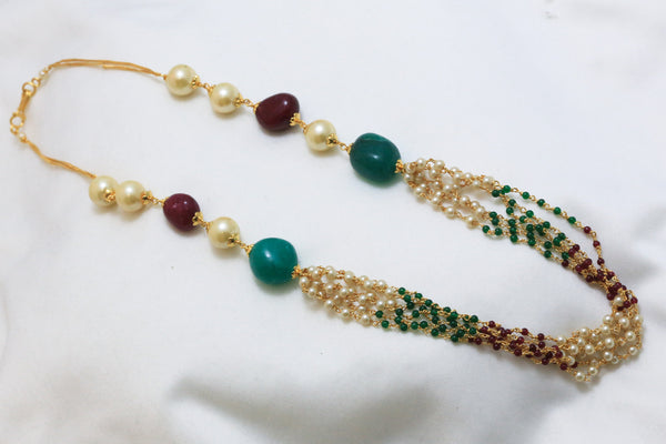 Layered Pearl Indian Necklace - AristaBeads Jewelry - 3