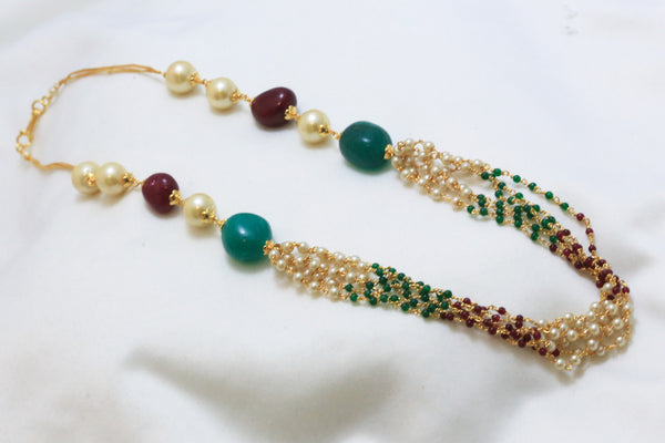 Layered Pearl Indian Necklace - AristaBeads Jewelry - 4
