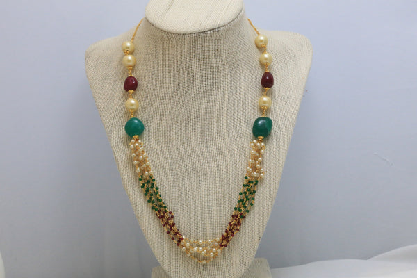 Layered Pearl Indian Necklace - AristaBeads Jewelry - 5