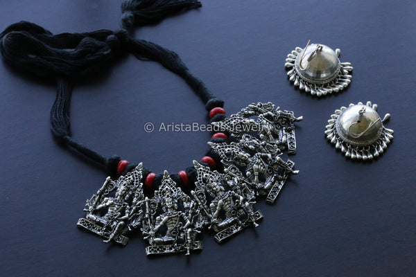 Black Tribal Necklace