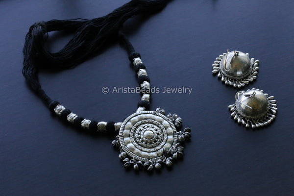 Black Silver Tribal Necklace