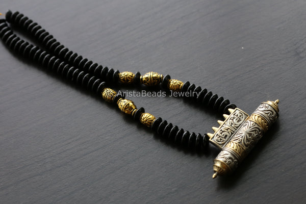 Oxidized Beaded Tabeez Necklace