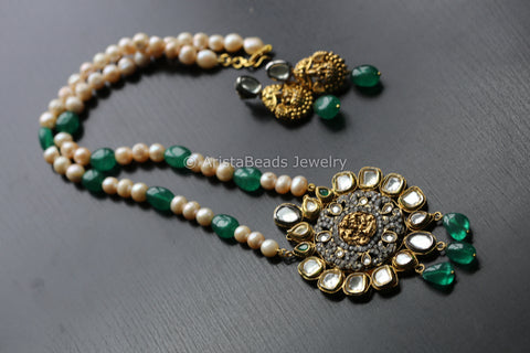 Contemporary Kundan Necklace