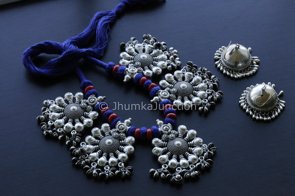 Blue Thread Tribal Necklace