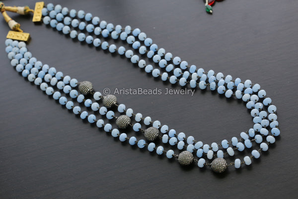 Contemporary Blue Layered Victorian Mala