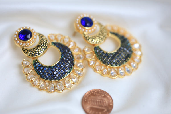 Contemporary CZ Chandbaali - AristaBeads Jewelry - 2