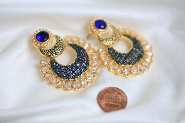 Contemporary CZ Chandbaali - AristaBeads Jewelry - 8