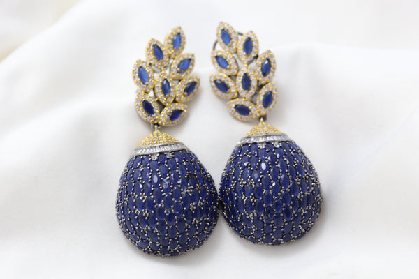 Stylish Sapphire Blue Earrings