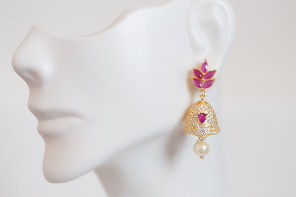 Small Ruby Polki Jhumka