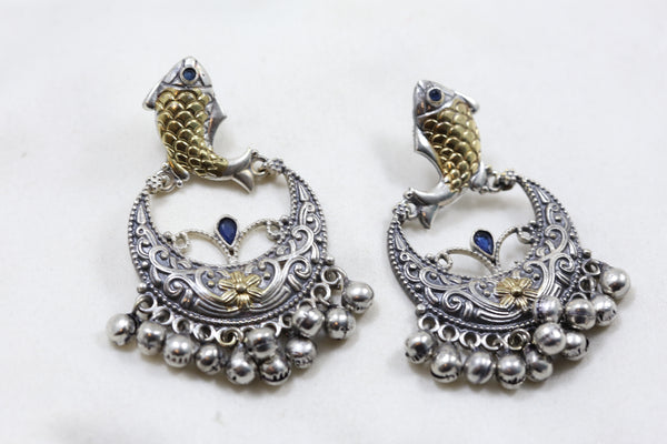 Blue Fish Stud Chandbaali