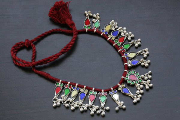Red Thread Glass Necklace