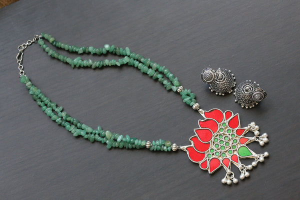 Glass Lotus Necklace