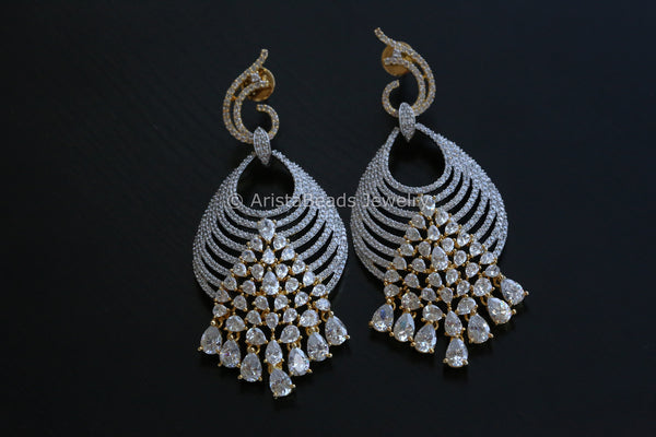 Large CZ earrings