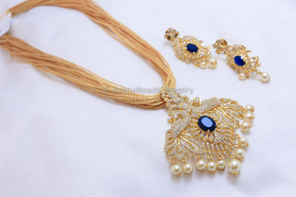 Contemporary CZ Necklace Set