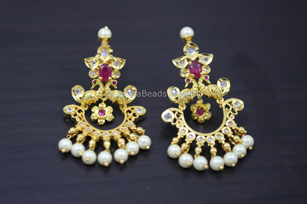 Gram Gold Ruby Chandbaali