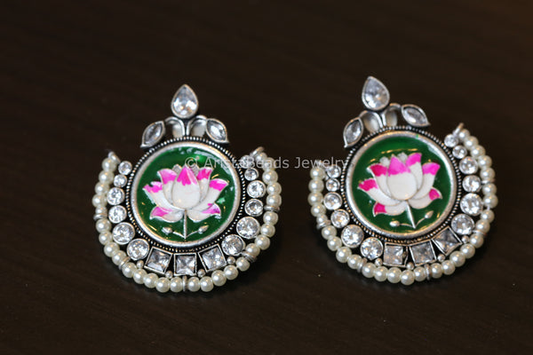 Enamel Chandbaali - Green
