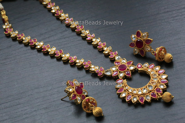 Ruby Polki Necklace