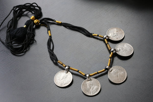 Vintage 1916 King George Silver Coin Necklace