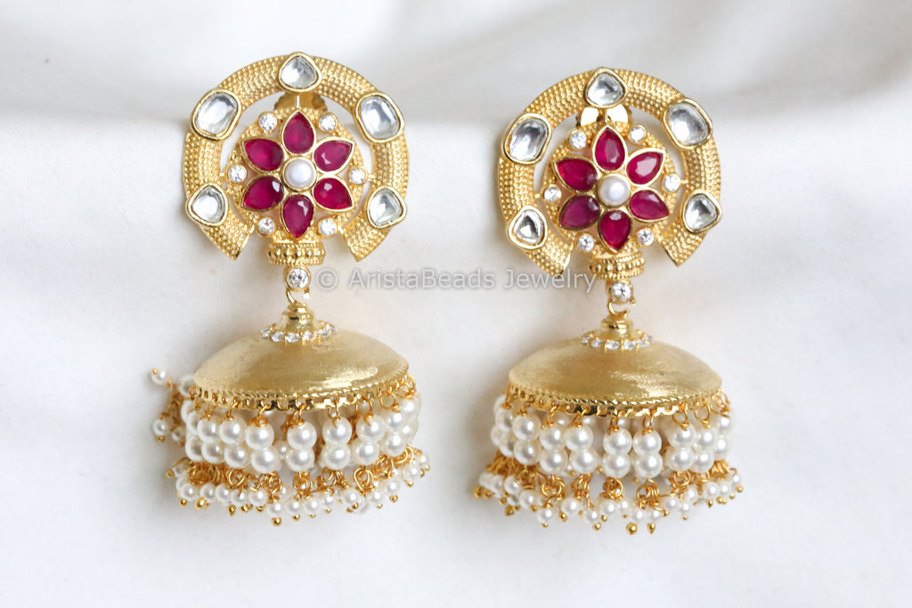 Contemporary Kundan Jhumka