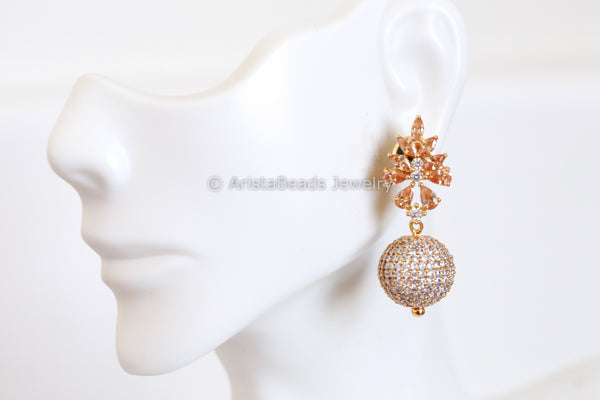 Champagne CZ Earrings