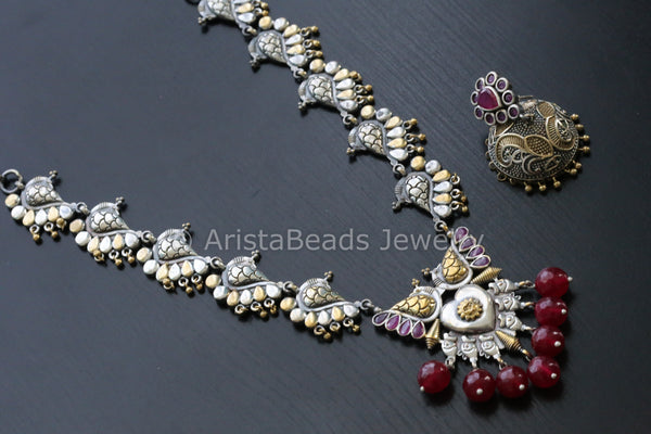 Ruby Dual Tone Necklace
