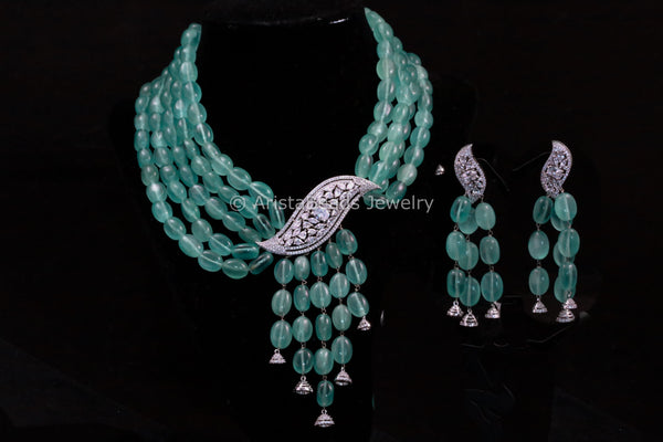 Contemporary Layered CZ Necklace Set