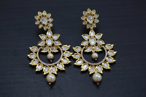 Next To Real Kundan Earrings