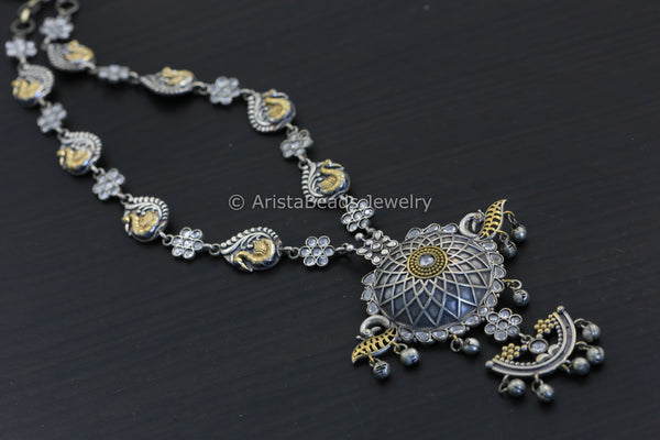 Clear CZ Two Tone Necklace