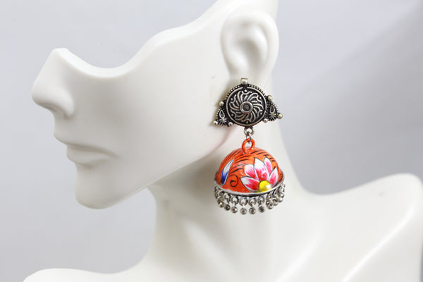 Cute Orange Jhumka