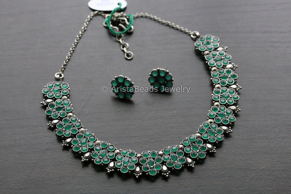 925 Emerald Sterling Silver Necklace