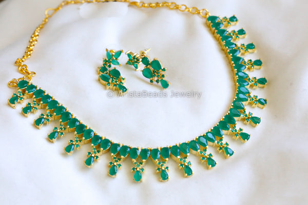 Emerald  AD Necklace