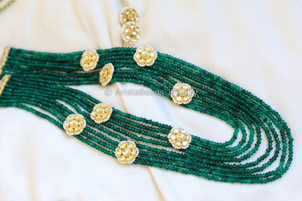 Emerald Layered Kundan Necklace