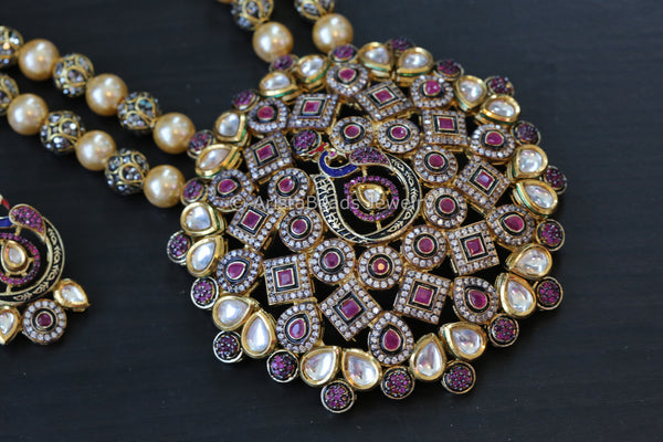 Extra Large Jadau Kundan Pearls Necklace
