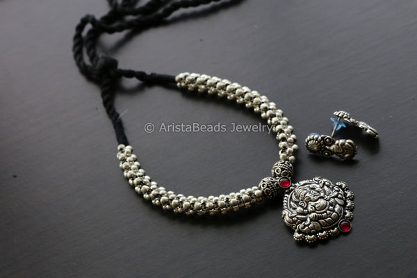 Ganesha Boho Thussi Necklace Set
