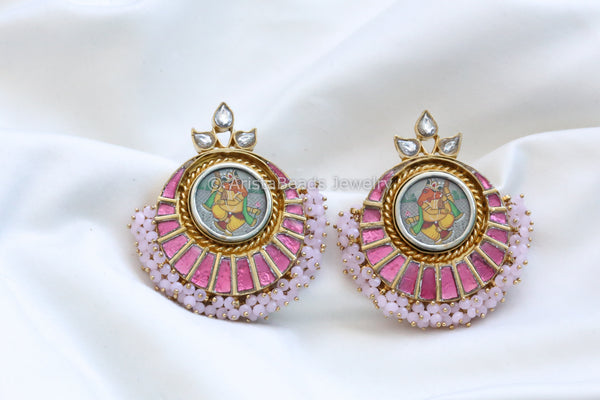 Large Contemporary Kundan Earrings