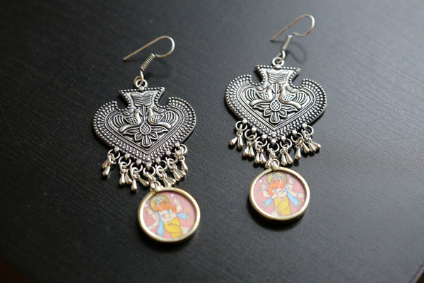 Tribal Oxidized Peacock Earring